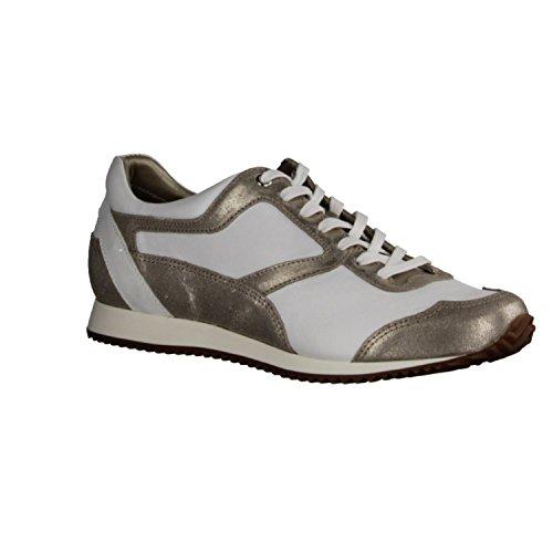X sensible Levy 200183124G - Zapatos cómodos / relleno suelto Zapatos mujer Cómodo Zapatos de cordones, Blanco, piel ceñida