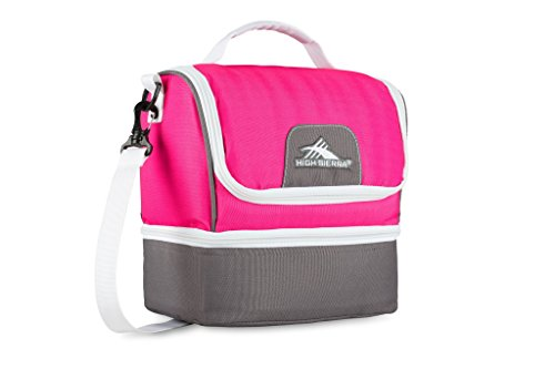 High Sierra Double Decker Lunch Bag, Flamingo/Charcoal/White