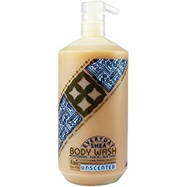 Alaffia - Everyday Shea Body Wash, Naturally Helps Moisturize and Cleanse without Stripping Natural Oils with Shea Butter, Neem, and Coconut Oil, Fair Trade, Unscented, 32 Ounces (FFP) 7 100% FAIR TRADE: Feel good about how you are getting your products with 100% Certified Fair Trade Ingredients. PURE, NATURAL BOUQUET OF INGREDIENTS: Our Everyday Shea Body Wash is a blend of aqueous neem leaf extract, traditional shea butter soap, and mild plant based surfactants. CLEANSING WITHOUT STRIPPING: Ingredients form a natural body wash that foams well and cleans completely without stripping skin's natural oils.