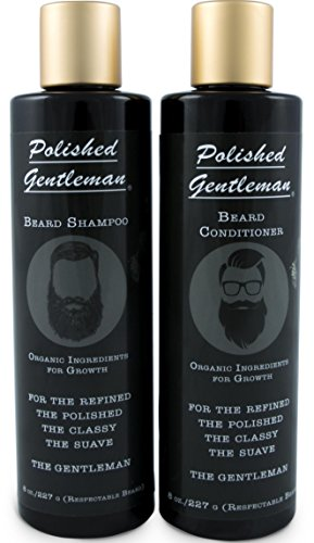 Beard Growth and Thickening Shampoo and Conditioner - Beard Care With Organic Beard Oil - For Best Beard Look - For Facial Hair Growth - Beard Softener for Grooming, 16 oz