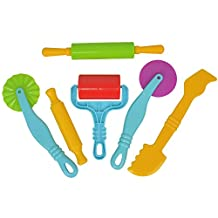 Mtele Smart Clay and Play Dough Tools Kit - 6 Piece Assortment