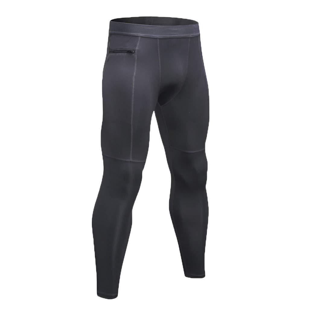 yoyorule Casual Pants Mens New Summer Zipper Pocket Fitness Pants Yoga Pants for Running Training