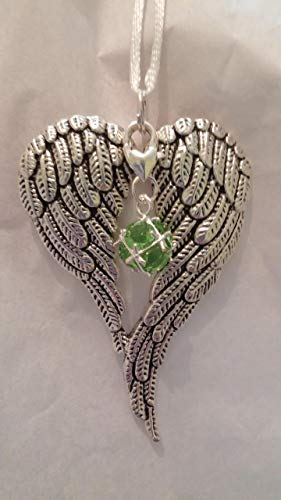 August Birthstone Angel Wings Memorial Christmas Ornament Sympathy ()