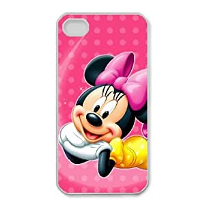 iPhone 4,4S Phone Case Lovely Minnie Mouse Cute Personalized Cover Cell Phone Cases GHX446183