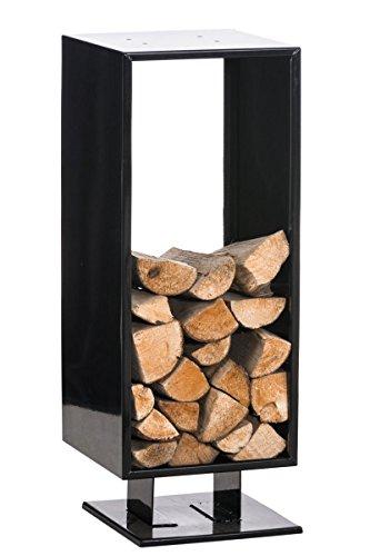 CLP Exklusiver Kaminholzständer CUBITO aus Metall, Kaminholz-Regal, bis zu 6 Größen und 2 Farben wählbar schwarz, 30x30x80 cm
