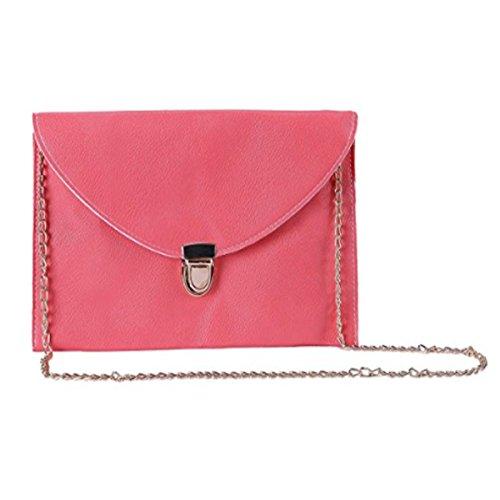 Amaze Fashion Women Handbag Shoulder Bags Envelope Clutch Crossbody Satchel Purse Tote Messenger Leather Lady Bag (Coral) by Amaze (Image #4)