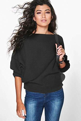 Donna Shirts Monocromo Libero Abbigliamento Maniche Primaverile Moda Rotondo Top Autunno Baggy Bluse Lunghe A Felpe Tunica Elegante Collo Tempo Nero Tops Camicia p4Spwqra