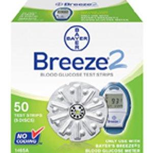 BREEZE 2 Blood Glucose Test Strip Disc  - 100 Box