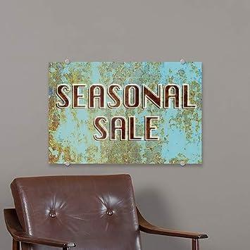 Ghost Aged Blue Premium Acrylic Sign 27x18 Seasonal Sale CGSignLab 5-Pack