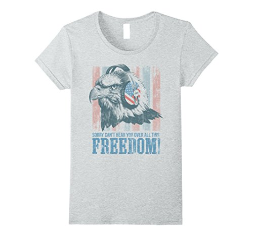 Womens Funny Fourth of July Patriotic American T shirt Gift for men Medium Heather Grey