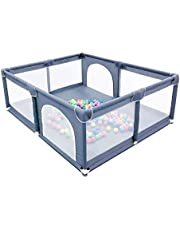 Large Space Kids Baby Ball Pit - Portable Indoor Outdoor Baby Playpen Toddlers Children Safety Play Yard Fun Activities Popular Toys (Not Includes Balls)