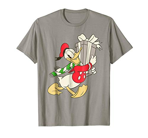 Disney Vintage Donald Duck with Holiday Present T-Shirt