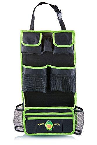 Route 67 Auto Rücksitz Organizer. Die smarte Autotasche mit Rückenlehnenschutz. Aufbewahrungstasche/ Utensilientasche und Rücksitzschoner mit 11 Staufächern in einem. Der Clou: abnehmbarer Reißverschlusstasche. Nicht nur für Kinder