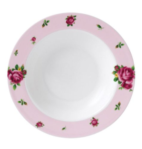 - New Country Roses Modern Casual Rim Soup and Salad Bowl Color: Pink