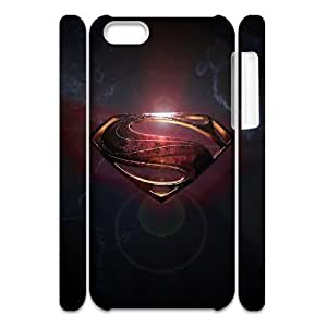YUAHS(TM) Personalized 3D Hard Back Phone Case for Iphone 5C with Superman Man Of Steel Logo YAS951443
