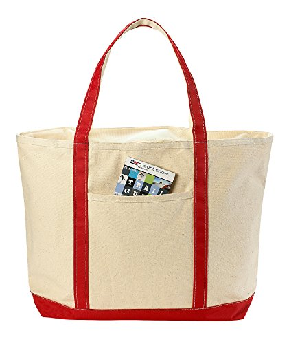 (Handy Laundry Canvas Tote Beach Bag - Pockets and Shoulder Straps. (22 x 16 Inches))