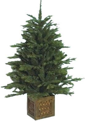 Albero Di Natale Ecologico.Albero Di Natale Ecologico Con Base Effetto Legno Cm 100 Amazon It Casa E Cucina