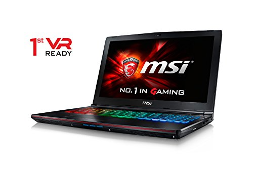 CUK MSI GE62VR Apache Pro VR Ready Laptop (i7-7700HQ, 32GB RAM, 512GB NVMe SSD + 1TB HDD, NVIDIA Geforce GTX 1060 6GB, Killer 1535 AC Wifi, 15.6' Full HD, Windows 10) - 2017 Gaming Notebook Computer
