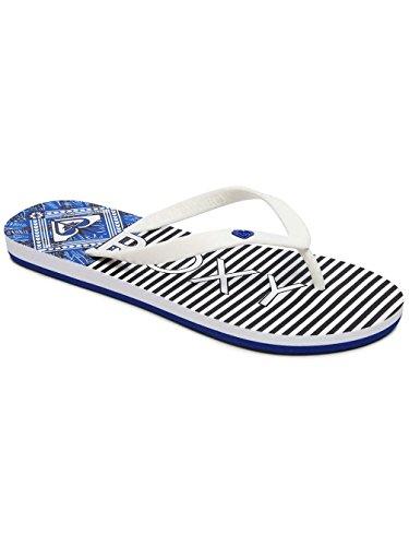 Roxy Tahiti Vi, Chanclas Para Mujer Blau (White/Navy Wny)