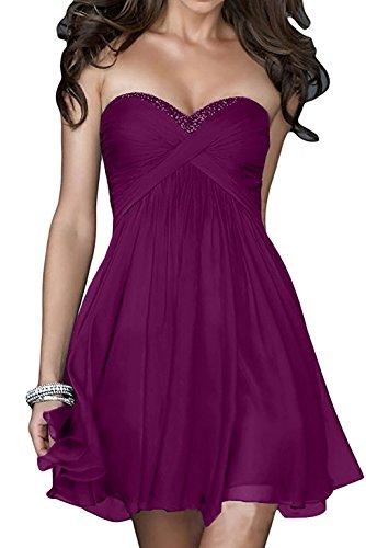 Heimkehr La Cocktailkleider Rock Kurzes Fuchsia mia Empire Abendkleider Mini Lila Partykleider Damen Tanzenkleider Braut 7w7qrxz