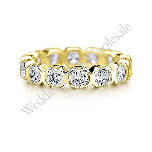 18K Gold 3mm Diamond Wedding Bands Rings 0902 - Size 11 by Wedding Bands Wholesale