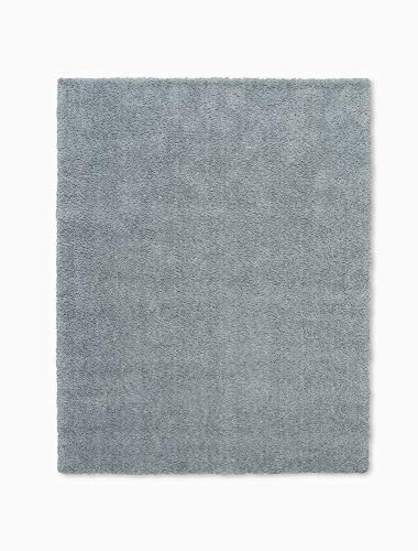 - Calvin Klein Home CK721 Chicago Shag Grey and Blue Plush Area Rug 7'6
