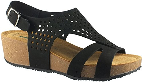 Sandalo Ambra Donna Bionatura Nera