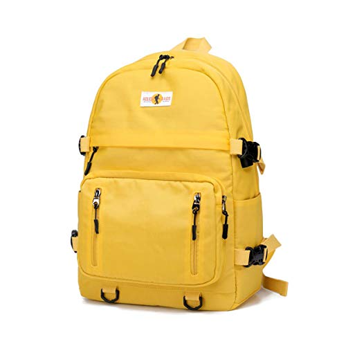 misognare Basic Backpack Unisex College Student Book Bag Travel Daypack for 14 inch Laptop (Yellow) (Best Backpacks For College)