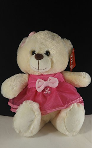 Cute Pink Rag Musical Doll With (Our Holy Father In Spanish)Tedy Bear .Osita (Padre Nuestro) Prayer (Bear Tedy)