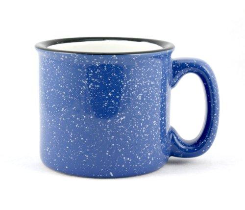 Marble Creek Ceramic Mug, 15oz - Set of 4 (Sky Blue)