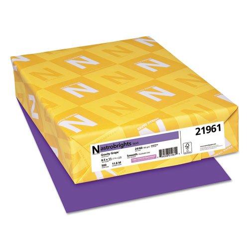 Astrobrights Colored Paper, 24lb, 8-1/2 x 11, Gravity Grape, 500 Sheets/Ream, Sold as 1 Ream, 500 per Ream