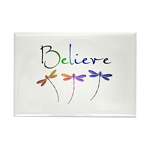 CafePress Believe.Dragonflies Magnets Rectangle Magnet, 2