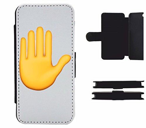 """Leder Flip Case Apple IPhone 4/ 4S """"Erhobene Hand"""", der wohl schönste Smartphone Schutz aller Zeiten."""