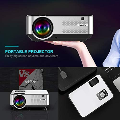 YABER Portable Projector with 5000 Lumen Full HD 1080P 200 Display Supported LCD LED Home  Outdoor