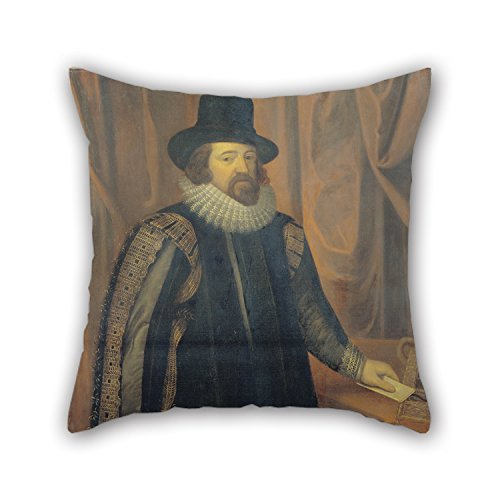Alphadecor Oil Painting Morris, William BrightUnknown Artist - Francis Bacon, Viscount St. Alban Pillow Cases 16 X 16 Inches / 40 By 40 Cm Best Choice For Kids Boys,dinning Room,couples,bf,chair,be