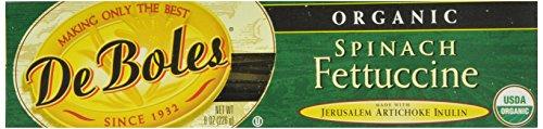 DeBoles Organic Spinach Fettuccini Pasta, 8 Ounce (Pack of 12) (Organic Gmo Free Pasta compare prices)