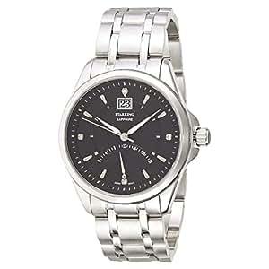 Starking Men's Black Dial Stainless Steel Band Watch - BM0855SS12