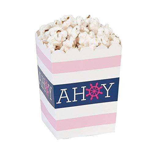 (Mini Nautical Girl Popcorn Boxes - 24 ct)