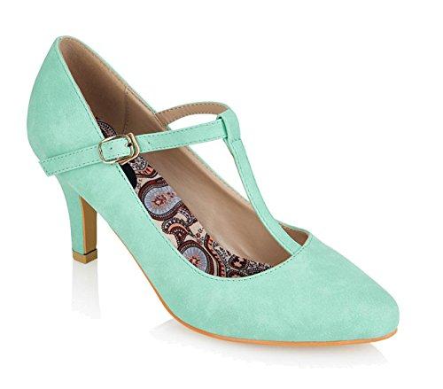 Pin Heel High Strap Rockabilly PUMPS Lulu Up Mintgrün Classic 50s T Hun Vintage LORNA Zartes zwHYf