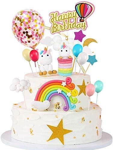 Enjoyable 15Pcs Unicorn Cake Topper Birthday Cake Decorations For Girl Birthday Cards Printable Trancafe Filternl