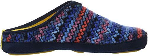 Talón Nordikas Con Casa Abierto Para De Zapatillas Estar Multicolor zafiro 002 azul Por Wash Mujer qwr0Aqx