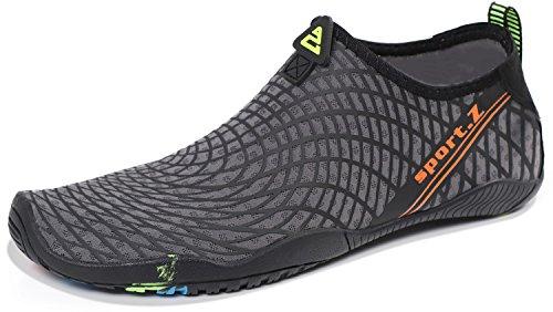 Heeta Water Sports Shoes for Women Men Quick Dry Aqua Socks Swim Barefoot Pool Beach Shoes for All Water Sport Blue_C 14.5 US women/13 US Men