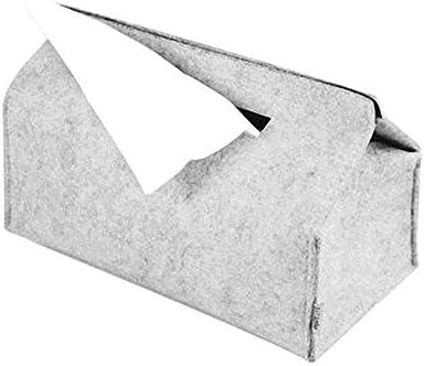 Portapañuelos de Papel Caja del Tejido del hogar Bandejas Simple Tejido de Lana Fieltro Caso Negro/Gris Papel Coche Color sólido ZHQHYQHHX (Color : Blanco, Size : 1): Amazon.es: Hogar