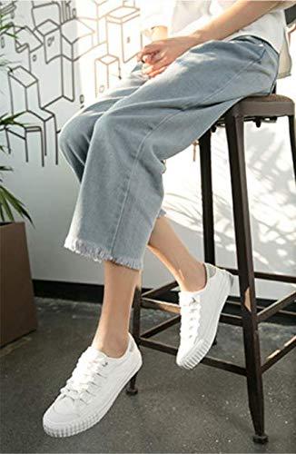 Zapatos Mujer Tela Up De Sneakers Feminino Zapatos Zapatos Pisos Transpirable Blanco Mujer Femeninos De Lace XINGMU Señoras Bqf4ITEpw