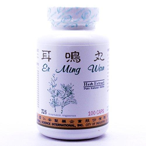 Ear Ringing Formula Dietary Supplement 500mg 100 capsules (Er Ming Wan) J26 100% Natural Herbs