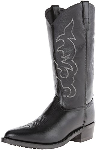 - Old West Men's Leather Cowboy Work Boots - Black9.5 D(M) US
