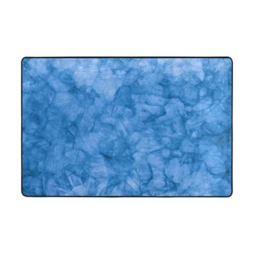 (Blue Natural Quartz Large Door mats Area Rug Runner Floor Mat Carpet for Entrance Way Living Room Bedroom Kitchen Office Holiday Doormat Non-Slip Carpet)