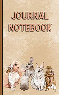 """Small Bunny Rabbit Journal Notebook: College Ruled Writing Note Book, 100 Lined+ 8 Blank Pages, Travel Size 5x8"""" (Pet Bunny Supplies Vol 11)"""