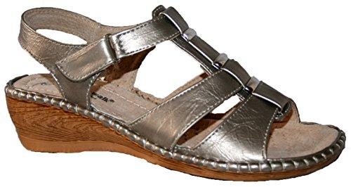 Cushion Walk - Sandalias de vestir de Material Sintético para mujer gris