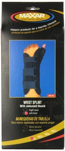 MAXAR WRS-203L Small Wrist Splint with Abducted Thumb Left Hand by ITA-MED CO